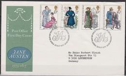 Grossbritannien 1975 MiNr.688 - 691 FDC 200.Geb. Jane Austen ( D 1763 )günstige Versandkosten - FDC