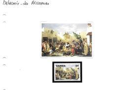 Delacroix - 12 Tableaux Avec Leur Vignette - Art
