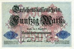 Billet Allemand De 50 Mark Du 5-8-1914- 7 Chiffres Rouge R - N°3084106 En T B - - [ 2] 1871-1918 : Duitse Rijk
