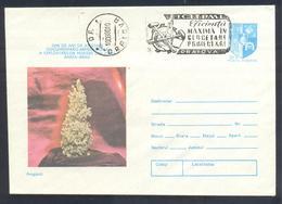 Romania 1983 Postal Stationery Cover: Minerals Mineralien Mineraux; Mining Bergbau; Aragonit Geodesy - Mineralien