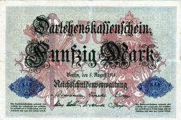 Billet Allemand De 50 Mark Du 5-8-1914 - 7 Chiffres Rouge R - N°3080218 En T B - - [ 2] 1871-1918 : Duitse Rijk