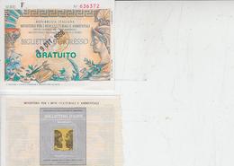 ITALIA - Ministero Beni Culturali E Ambientali) - Biglietti D'ingresso