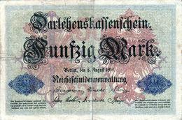 Billet Allemand De 50 Mark Du 5-8-1914- 6 Chiffres Rouge N - N° 000660 En T B - - [ 2] 1871-1918 : Duitse Rijk