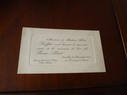 Faire Part Naissance De Pierre Albert Kieffer  Coeuilly Le 2 Decembre 1910 - Birth & Baptism
