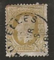 Timbre Belgique N° 32 Obliteration Bruxelles - 1869-1883 Léopold II