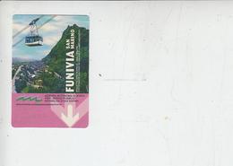S.MARINO - Funivia  (retro Pubblicità Vino) - Biglietti D'ingresso