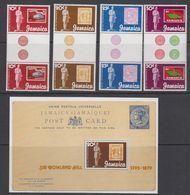 Jamaica 1979 Sir Rowland Hill 4v Gutter + M/s ** Mnh (42550) - Jamaica (1962-...)