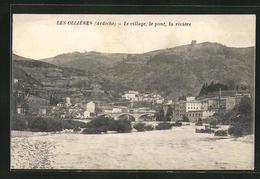 CPA Les Ollieres, Le Village, Le Pont, La Riviere - France