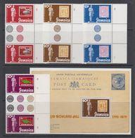 Jamaica 1979 Sir Rowland Hill 4v Gutter (margin) + M/s ** Mnh (42550A) - Jamaica (1962-...)