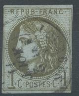 Lot N°48739  N°39C, Oblit Cachet à Date De LOURDES, HAUTES-PYRENEES (63) - 1870 Emission De Bordeaux