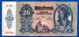 Hongrie  - 20  Pengo 1941  -  état  TB - Hongrie