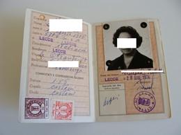 Con Foto  Anni 70    LECCE    CARTA D' IDENTITA   CON FOTO CEDULA DE IDENTIDAD Card Identity LOTTO LECCE 1 - Documenti Storici
