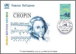 ARGHELIA 2015 - FDC - World Refugee Day Réfugiés Weltflüchtlingstag Frederic Chopin Día Mundial Del Refugiado Refugees - Refugees