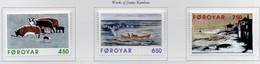 PIA -FAROER- 1996 : Omaggio A Janus Kamban, Scultore Ed Incisore - Sue Opere -  (Yv  301-03) - Isole Faroer