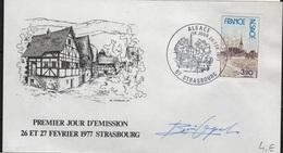 FDC 527 - FRANCE N° 1921 ALSACE Sur FDC 1977 Avec Signature De Graveur - FDC
