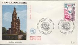 FDC 529 - FRANCE N° 1948 Tour Abbatiale De Saint-Amand-les-Eaux Sur FDC 1977 - FDC