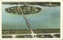Belle Isle, With One Of The Venetian Islands In The Foreground, Miami Beach, FLA. - Miami Beach