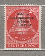 GERMANY BERLIN 1954 Mint MH (*) Mi 118 #24641 - Unused Stamps