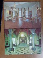 2 Cartes, Le Roeulx, Chateau Des Princes De Croy -> Ne Pas écrit (1 Kaart Beetje Geschonden) - Le Roeulx