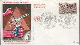 FDC 532 - FRANCE N° 1952 Meilleurs Ouvriers De France Sur FDC 1977 - FDC