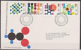 Grossbritannien 1977 MiNr.735 - 738 FDC 100 Jahre Königliches Institut Für Chemie ( D 6190 )günstige Versandkosten - FDC