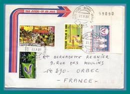 Lettre Congo TP Divers ...1981 > France Orbec - Congo - Brazzaville