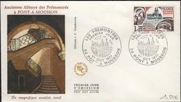FDC 533 - FRANCE N° 1947 Abbaye Des Prémontrés à Pont-à-Mousson Sur FDC 1977 - FDC