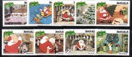 APR718 - ANGUILLA 1981, Yvert Serie N. 416/424  ***  MNH  (2380A)  NATALE CHRISTMAS - Disney