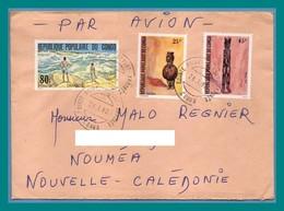 Lettre Congo TP Art Africain ...1982 > Nouvelle Calédonie - Congo - Brazzaville