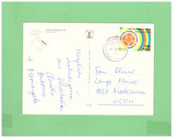 1990 ITALIA VIAGGIATA SINGOLA X LA SVIZZERA MONDIALI DI CALCIO 700L. - 1981-90: Marcofilia