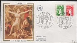 FDC 539 - FRANCE N° 1970-1972 Sabine Sur FDC 1977 - FDC
