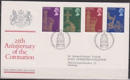 Grossbritannien 1978 MiNr.765 - 768 FDC 25.Jahrestag Der Krönung  Königin Elizabeth II. ( D 4567 )günstige Versandkosten - FDC