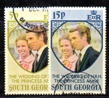 APR720 - SOUTH GEORGIA 1973 ,  Yvert Serie 45/46  Usata . Anne Philips - Georgia Del Sud