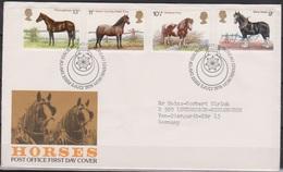 Grossbritannien 1978 MiNr.769 - 772 FDC 100 Jahre Shire Horse Society ( D 6378 )günstige Versandkosten - FDC