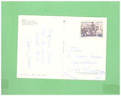 1970 ITALIA SINGOLA X LA SVIZZERA GARIBALDI 20L. - 1961-70: Storia Postale