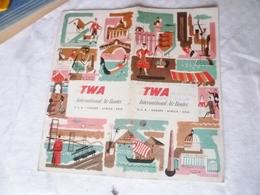 Livret Trans World Airlines  TWA  , Avions , Années 50 Environ - Advertisements
