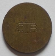 Brasil Telephone Token   Brass  20 Mm     CTB   Reverse  Two Grooves - Monetary /of Necessity