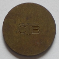 Brasil Telephone Token   Brass  20 Mm     CTB   Reverse  Two Grooves - Monedas / De Necesidad