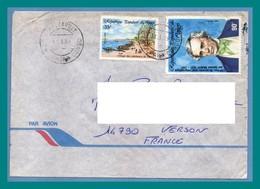Lettre Congo TP Samuel Morse, Village Pêcheurs 1989 > France Télégraphe - Congo - Brazzaville