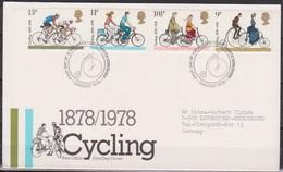 Grossbritannien 1978 MiNr.773 - 776 FDC 100 Jahre Britischer Radfahrer-Touring-Club ( D 4480 )günstige Versandkosten - FDC