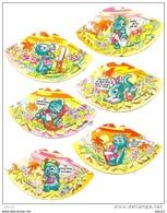6 Verschiedene Hütchenbilder Der Dapsy Dino Family 1997 - Maxi (Kinder-)
