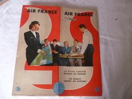 Livret Air France   , Avions , Années 50 Environ - Advertisements