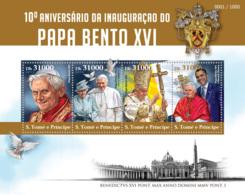 Sao Tome 2015 Pope Benedict XVI And Barack Obama - Sao Tome And Principe