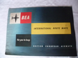 Livret British European Airways  BEA, Dunlop   , Avions , Années 50 Environ - Advertisements