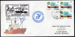 "ANTARCTIC, BELGIA,Exp. ""COHIMAR"",2001/02,2 Cachets + 3 X Sign !! RARE !!  31.3-21 - Stamps"