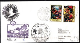 """ANTARCTIC, BELGIA,Exp. """"HESPERIDES"""", 1998/99,3 Cachets + 3 X Sign !! RARE !!  31.3-25 - Stamps"""
