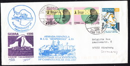 ANTARCTIC, BELGIA,Exp. GEBRA, 1996,3 Cachets + 2 X Sign !! RARE !!  31.3-26 - Stamps