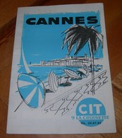 Tourist Brochure Of Cannes France From 1973 VERY RARE - Books, Magazines, Comics