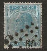 Timbre Belgique 1865 - 1869-1883 Leopold II