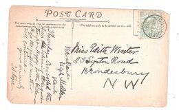 1908 HIGH HALDEN POSTMARK ON A LOCAL CHURCH INTERIOR Nr ASHFORD TENTERDEN PC WAF POSTAL HISTORY - England